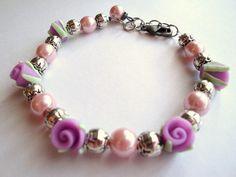 Romantic, Festive, Be My Valentine Rose Garden Bracelet. Made by Pennie at Pernillas Something Swedish. $22.99
