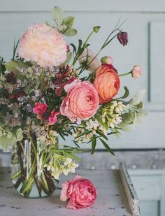 фон и цветочки