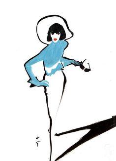 Mdvanii René Gruau 1989 #ReneGruau #FashionIllustration #VonGiesbrechtJewels