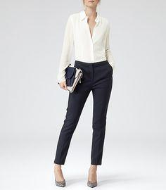 Womens Night Sky Tapered Trousers - Reiss Fontana