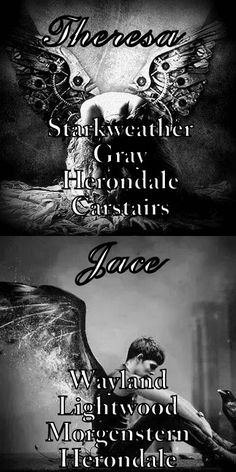Cassandra Clare has a thing for Last Names ;) #TID #TMI #Jace #Tessa