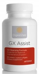 doTERRA GX Assist Powerful Digestive Cleansing Formula - includes oregano, melaleuca, lemon, lemongrass, peppermint, thyme, & caprylic acid. This is a very strong cleanse and is designed to be taken 3 times a day for 10 days, followed immediately by the 5 day PB Assist+® program to repopulate the digestive tract with good bacteria.