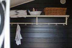 Vihreä talo: sauna #naulakko