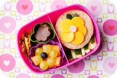 Spring flowers bento box lunch for kids by Bento Mama