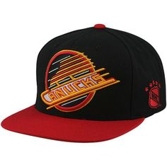 Mitchell   Ness Vancouver Canucks Vintage XL Logo 2T Snapback Hat - Black  Red 2fbac897b84e