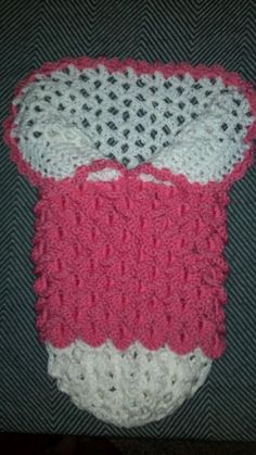 Sweet princess cocoon w/ crocodile stitch. LOVE IT!!  Made this for my husband's cousin's wife. They are expecting soon! The pattern was free courtesy of Monica Kennedy. I felt very proud to give this gift.