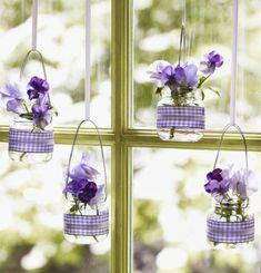 Blumenvasen zum Ostern basteln und aufhängen