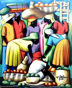 Haitian Art, Art of Haiti, Market Scene, Canvas Painting, Wall Art, Naive Art, Haitian Painting, Canvas Art, Original Painting, 20 x 24 by TropicAccents on Etsy  Canvas art, Wall art, Canvas wall art, Original art, Canvas painting, Haitian art, Haitian painting, Primitive art, Acrylic painting, Paintings on canvas, Haitian folk art, Original Haitian art, Haitian naïve art,