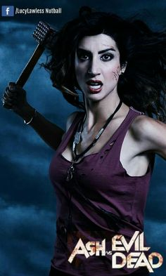 Kelly Maxwell  played by Dana DeLorenzo Kelly was once a sweet girl, but has become hardened and cynical because of what the Deadites have done to those close to her. With her family destroyed, she turns to Ash and Pablo for payback.