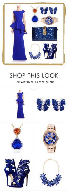 """my blue party"" by guagua-weplayfashion ❤ liked on Polyvore featuring La Petite Robe di Chiara Boni, Giorgio Armani, Giuseppe Zanotti, Kate Spade and Dolce&Gabbana"
