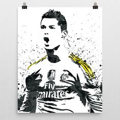 Cristiano Ronaldo poster. Ronaldo is a Portuguese professional footballer who plays for Spanish club Real Madrid and the Portugal national team. He is a forward and serves as captain for Portugal. Oft