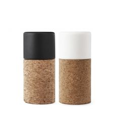 cork - matte ceramics - & Pepper Shakers by Norman Copenhagen Norman Copenhagen, Salt And Pepper Mills, Salt And Pepper Grinders, Salt Pepper Shakers, Scandinavian Design, Stuffed Peppers, Tableware, Kitchenware, Kitchen Things