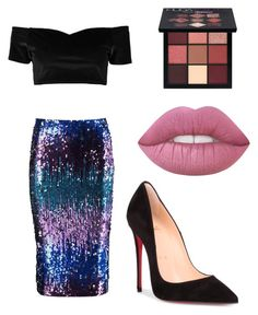 """""""Event"""" by lizzythedizzy on Polyvore featuring Boohoo, Christian Louboutin and Huda Beauty"""