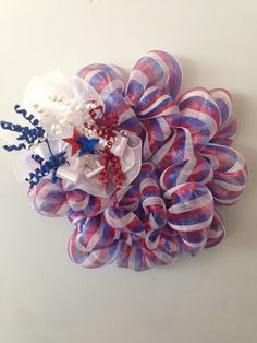 4th of July Wreath! It brings the fun of fireworks to the day time!