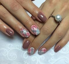 Autumn gel polish for nails, Autumn nails, Beige dress nails, Coffee nails, Fall nail ideas, Fall nails 2016, Manicure brown gel varnish, Nails by a brown dress