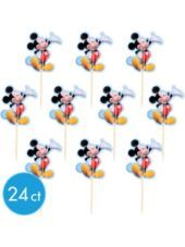 Mickey Mouse Cupcake Picks 24ct - Party City