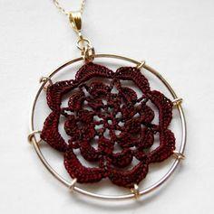 Tiny Crochet Doily Jewelry by McCordWorks