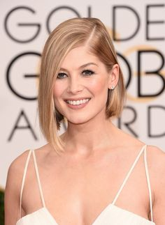 Actress Rosamund Pike attends the 72nd Annual Golden Globe Awards