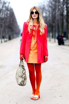Street style: Bright red