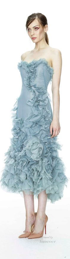 Alice in Wonderland / karen cox.  Marchesa Resort 2015. baby blue ruffle gown
