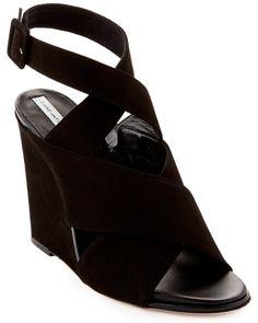 Diane von Furstenberg Suede Wedge Sandal.