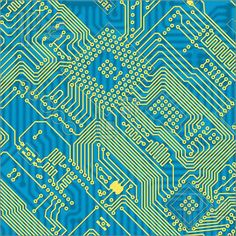 photo of circuit board | Printed Blue Industrial Circuit Board Texture Illustration. Clip Art ...