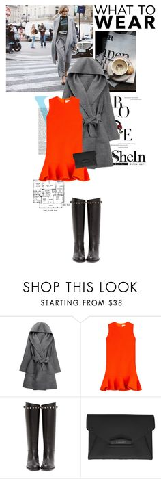 """SheIn style"" by crittertank ❤ liked on Polyvore featuring STELLA McCARTNEY, Victoria Beckham, WithChic, Victoria, Victoria Beckham, Valentino and Givenchy"