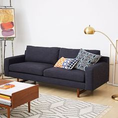 West Elm Eddy Loveseat  Either in Pebble Weave Charcoal or Yarn Dyed Linen Weave Indigo (prefer indigo)