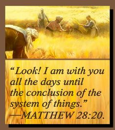 Yes, the wheat (true Christians) & the weeds (Christendom) grow together until the harvest. There's still some time left to learn about Jehovah! - John 17:3.