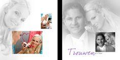 Een bladzijde uit ons mooie design album.  Ook een mooie trouwreportage? www.hanenhannekefotografen.nl