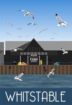 Whitstable Fish Market. Drawn by Karen