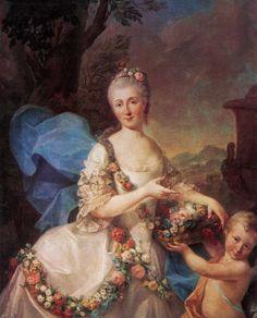 1757 Apolonia Ustrzycka and her son Stanisław by Marcello Bacciarelli (Muzeum Pałac w Wilanowie - Warsawa Poland) | Grand Ladies | gogm