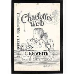 Charlotte's Web Print E B White Poster Classic by FalstaffTrading