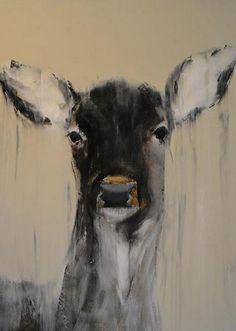 Jeffery by Elsa Sroka Oil ~ x Deer Illustration, Deer Art, Wildlife Art, Art Pictures, Art Pics, Animal Paintings, Figure Painting, Spirit Animal, Doodle Art