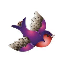 Erstwilder - Betty Jo Sparrow Brooch - 1