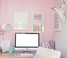 10 espacios de trabajo en tonos pastel | Decorar tu casa es facilisimo.com