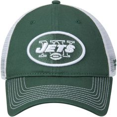 2d4fa08c9bc New York Jets NFL Pro Line by Fanatics Branded Core Trucker II Adjustable Snapback  Hat - Green White