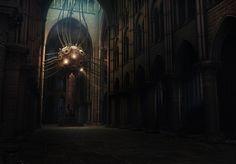 Steampunk Cathedral Picture  (3d, sci-fi, steampunk)