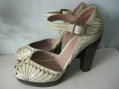 REPRO 1940s vintage wartime style TOPSHOP leather art deco shoes uk 6 39 | eBay