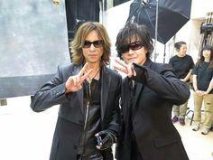 Yoshiki and Toshi. X Japan Dir En Grey, Visual Kei, My Music, Japanese, Shit Happens, Guys, Lady, Women, Rock