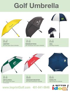 Custom Golf Outing Umbrellas on Sale! Personalized Golf Products at bargain prices. Golf Tournament Giveaway Prizes & Logo branded Gifts. www.imprintgolf.com 401-841-5646 #golftournament #golfoutings #golfgifts #golfonsale #golfspecials #newfor2017 #newgolfideas #golf #golfprizes #planningagolftournament #umbrellas #golfumbrellas