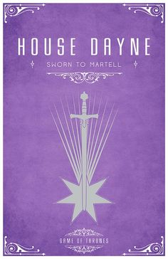 House Dayne. Game of Thrones house sigils by Tom Gateley. http://www.flickr.com/photos/liquidsouldesign/sets/72157627410677518/