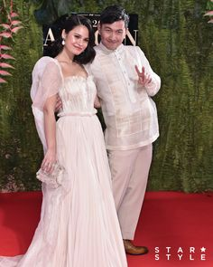 The Cutest Couples at the ABS-CBN Ball 2019 - Star Style PH W Dresses, Nice Dresses, Bridesmaid Dresses, Wedding Dresses, Filipiniana Wedding, Filipiniana Dress, Michael Cinco Gowns, Celebrity Dresses, Celebrity Style