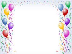 Free Printable Happy Birthday Borders | multicolored balloon borders