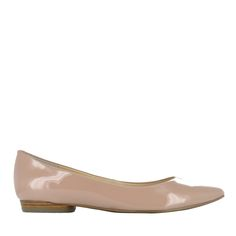 Beig Pointy Toe Flat