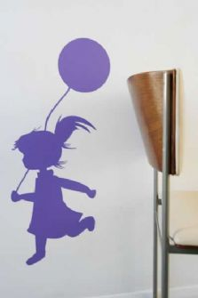 Girl with balloon wall sticker, £15.99