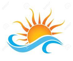 Sea Waves And Rising Sun Vector Illustration Royalty Free Cliparts . Sea Waves And Ri Sun Tattoos, Body Art Tattoos, Small Tattoos, Tatoos, Celtic Tattoos, Sleeve Tattoos, Sun Tattoo Designs, Sun Designs, Sun Painting