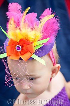 Circus Fun Neon Pink Orange Purple Rainbow Top Hat