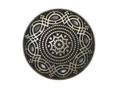 2 Arabesque Metal Shank Buttons 7/8 inch  23 mm  by ButtonJones, $3.30