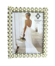 pearl picture frame for 30th wedding anniversary